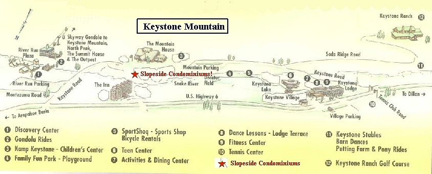 Directions To Keystone And A Map Of Keystone Colorado Slopeside - Map of keystone colorado